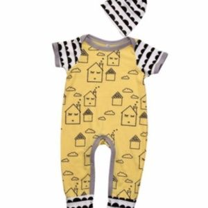 """Other - Boutique baby outfit """"little houses"""" 12  mo."""